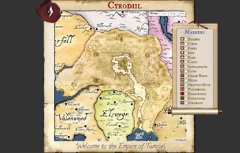 Oblivion Map Tamriel Maps The Most Complete Map Of Oblivion With